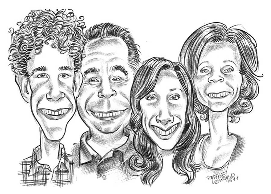 Pinto-caricatures-x4