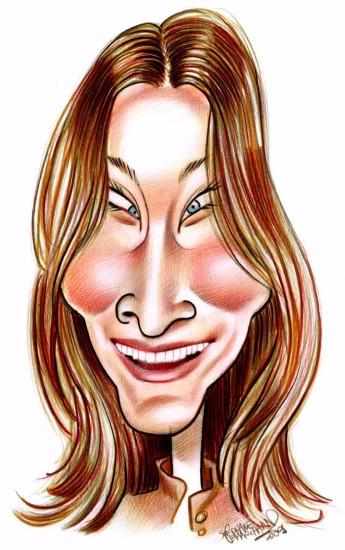 Caricature de Carla Bruni