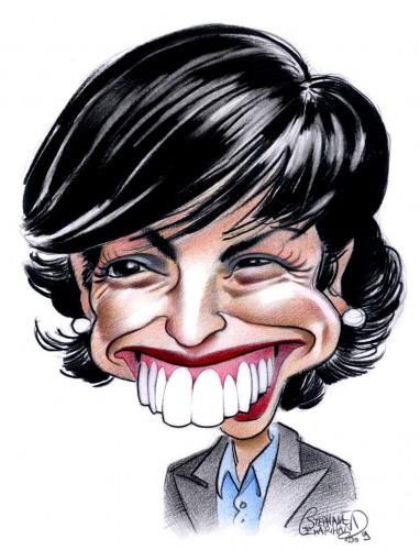 Caricature de Rachida Dati, personnalité politique