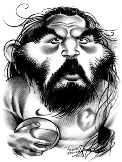 Caricature de Chabal