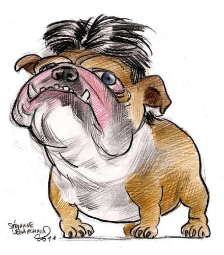 Caricature de Mélanchon, homme politique. Illustration au crayon