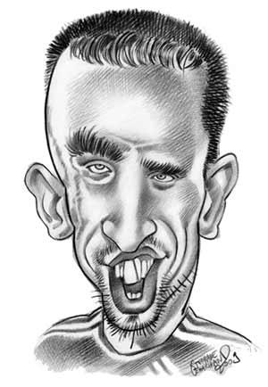 Caricature de Franck Ribery, footballeur