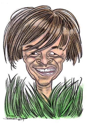caricature de Nicolas Hulot, homme politique français, ministre de l'écologie