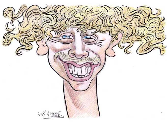 Caricature de Norman, célèbre youtuber
