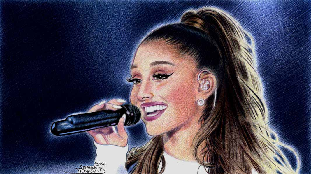 Portrait de Ariana Grande. Illustration